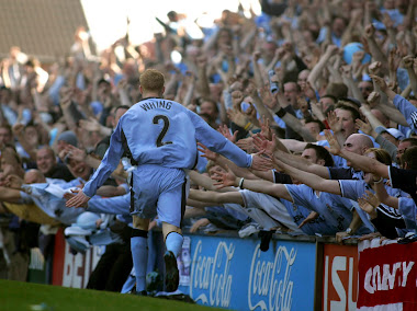 Andrew Whing's celebration after scoring the final goal at Highfield Road - April 30th 2005