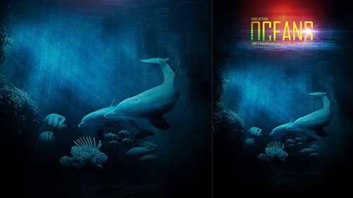 Photoshop Tutorial Poster With Photo Manipulation Oceans