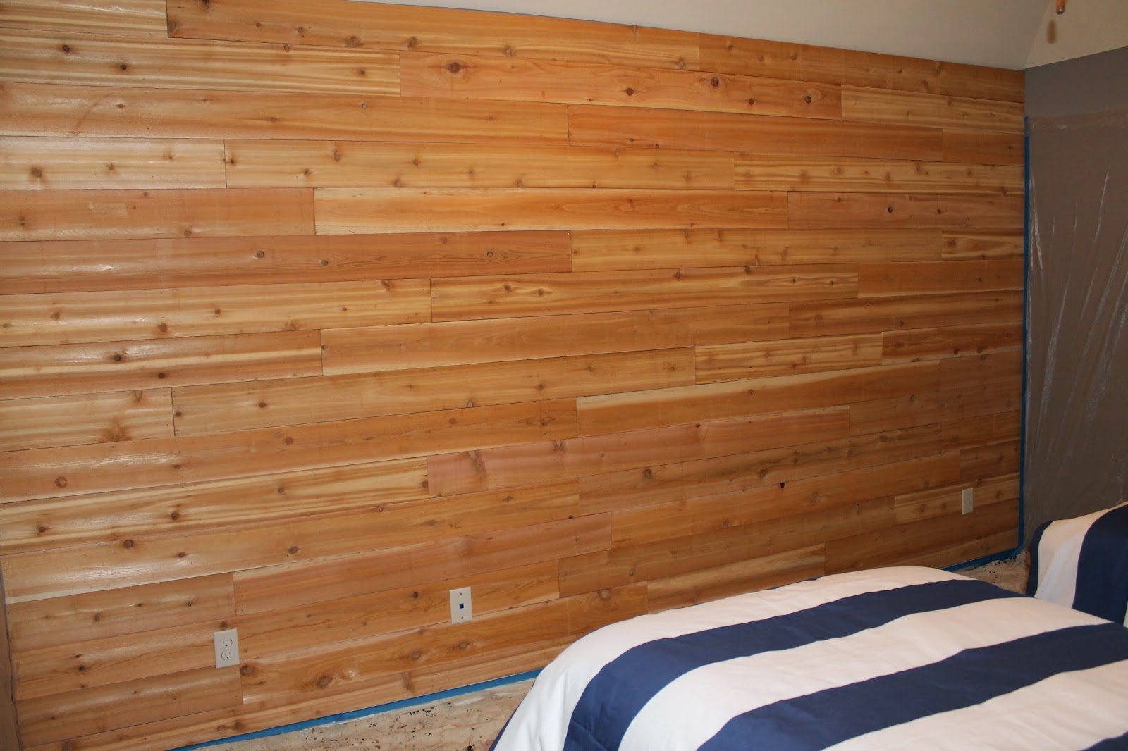 Wooden Wall Boards : The ragged wren wood feature wall