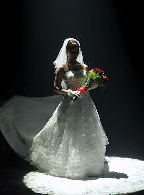 sana khan in wedding dress latest photos