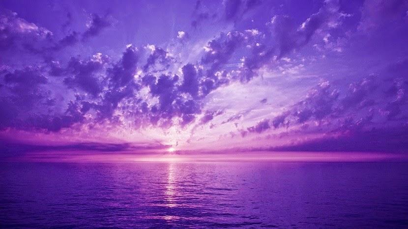 fioletowe niebo