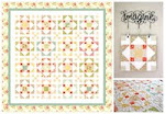 'Summer's Blush' layer cake quilt PDF pattern