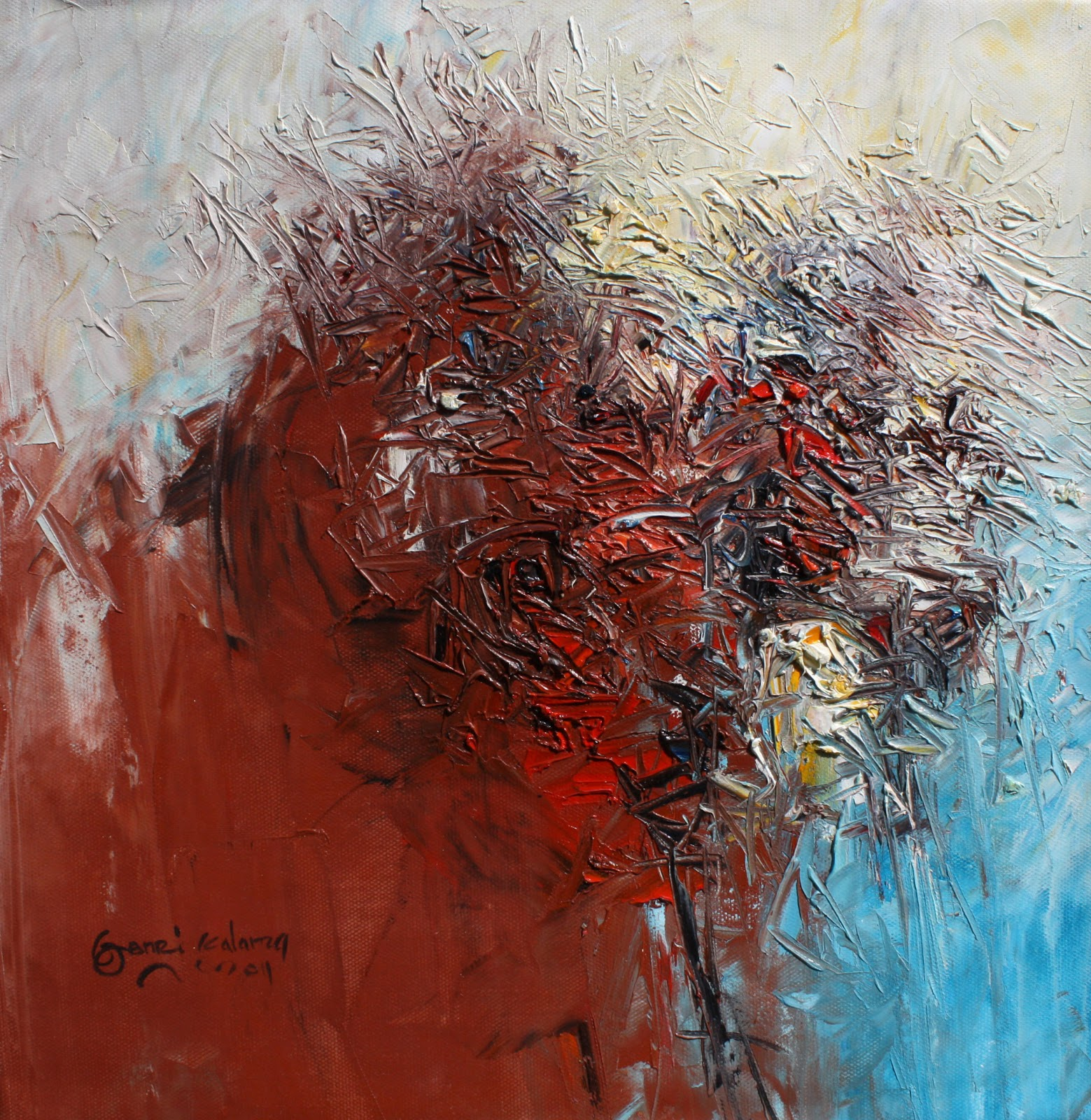 Abstract paintings another series of 50x50cm 2011 for Abstract art mural