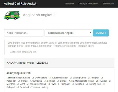 Aplikasi Searching Pencarian Jalur Angkot 1