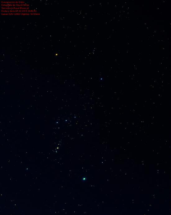 Constelacion de Orion - El cielo de Rasal