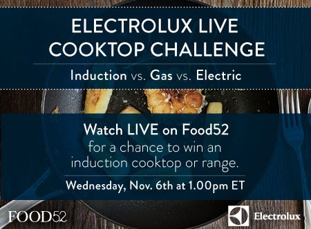 Join the Electrolux Live Cooktop Challenge and you could win!