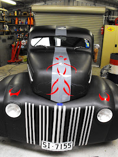 Traditional Signwriters Australia dobell signs hot rod car Sydney New South Wales