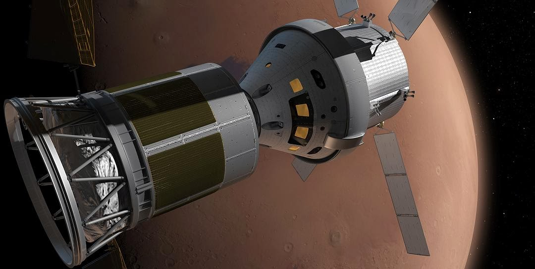 Artist's rendering of a manned Mars flyby. Credit: Inspiration Mars/NASA