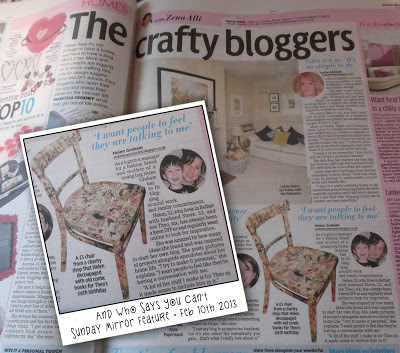 sunday mirror, blog feature