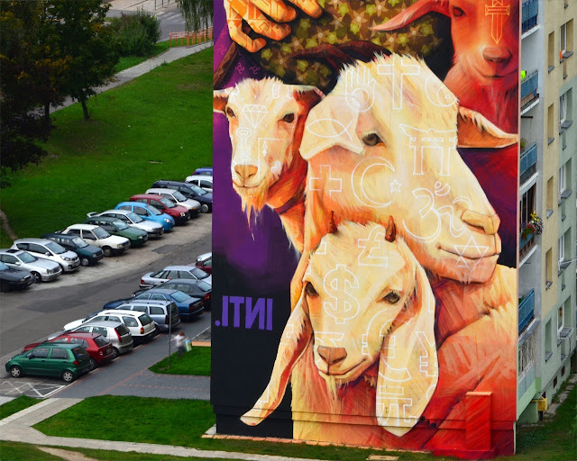 Street Art By Chilean Urban Artist INTI on the streets of Lodz For Fundacja Urban Forms 2013.3