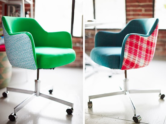 Fauteuil customisé Oh Joy studio by Emily Henderson