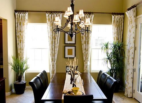 窗簾|南歐的鄉村風窗簾布花形較大