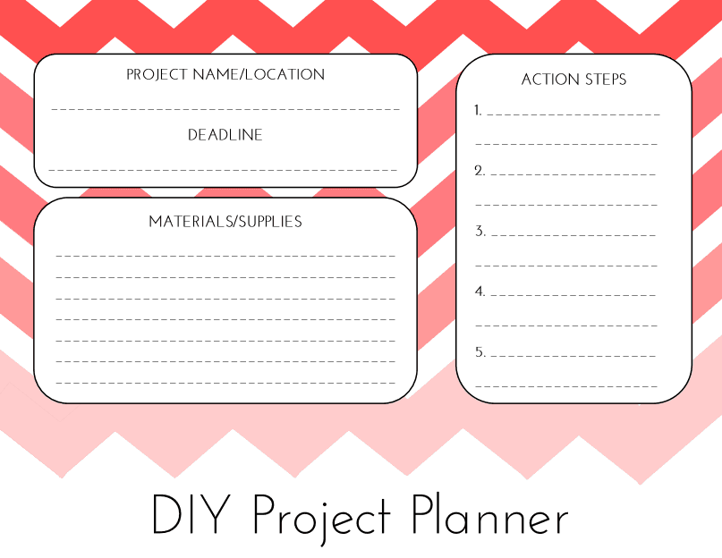 Craftivity Designs: Day 30: DIY Project Planner