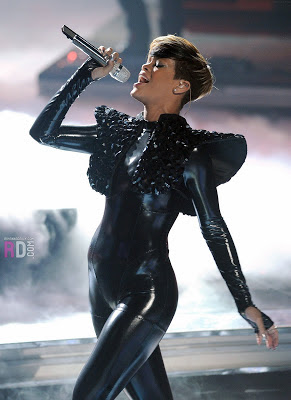 Rihanna in Black Catsuit