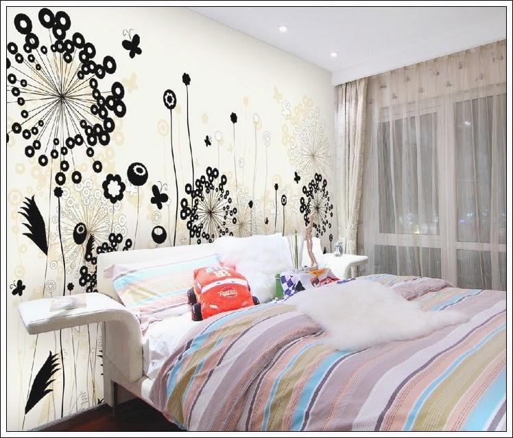 vẽ tranh tường phòng ngủ 1