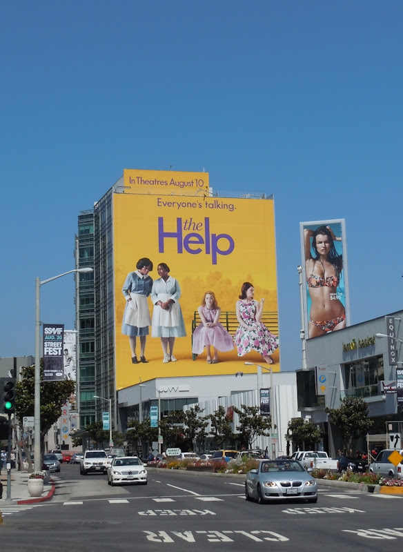 Giant The Help movie billboard