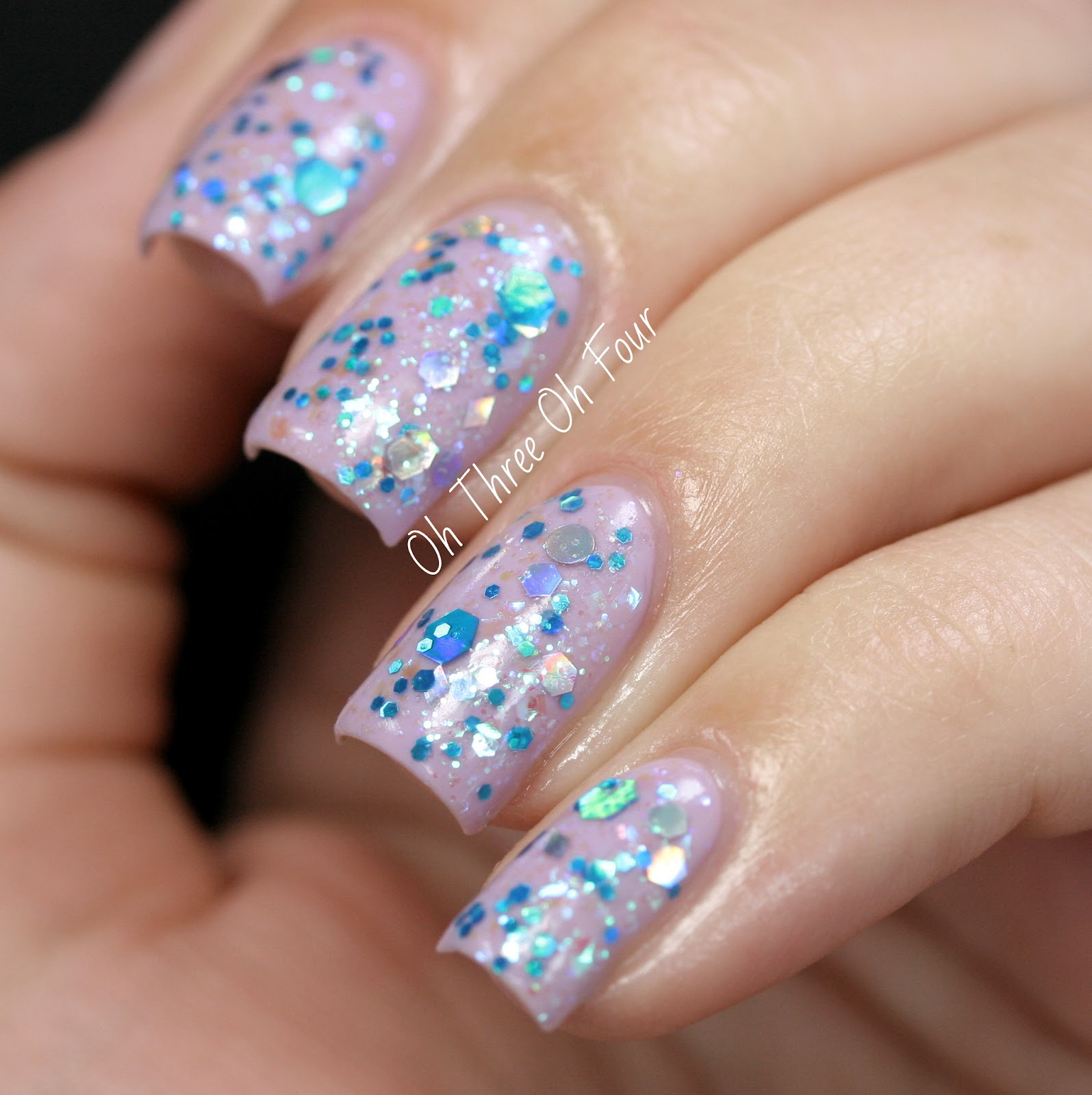 Blue-Eyed Girl Lacquer Purple Phlox and Electric Icicle