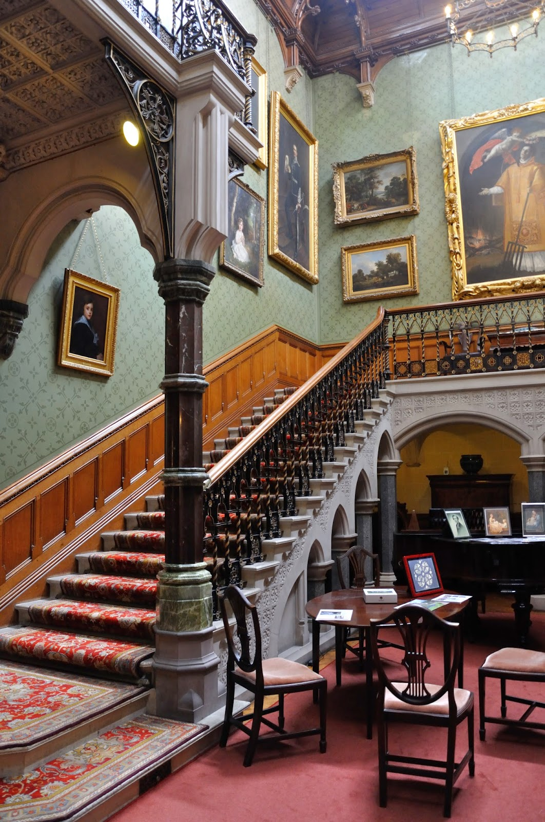 Main staircase at Tyntesfield