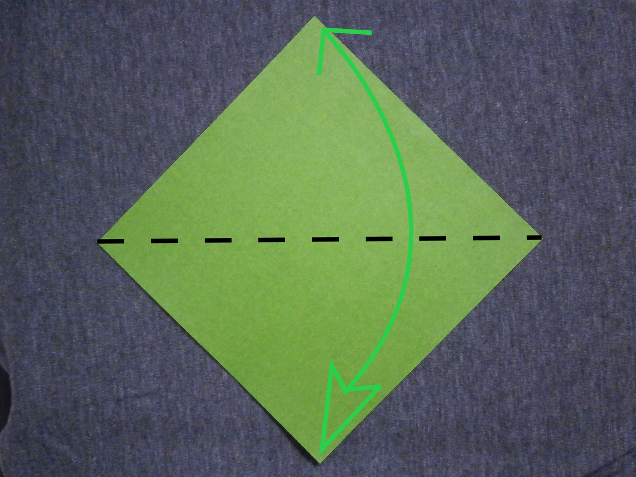 How to mountain fold origami
