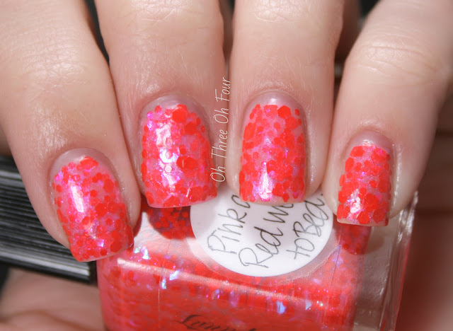 Lynnderella Pink and Red Went to Bed Swatches