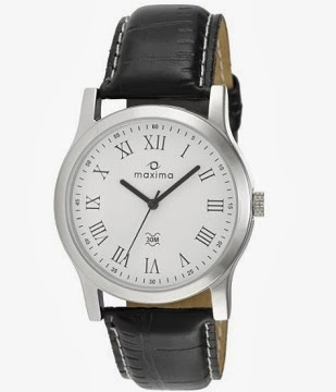 Maxima Analog White Dial Men's Watch – E-20880L-INST just for Rs.399 Only at Amazon