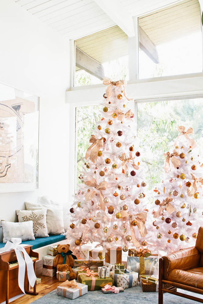 Christmas holiday decorating tree