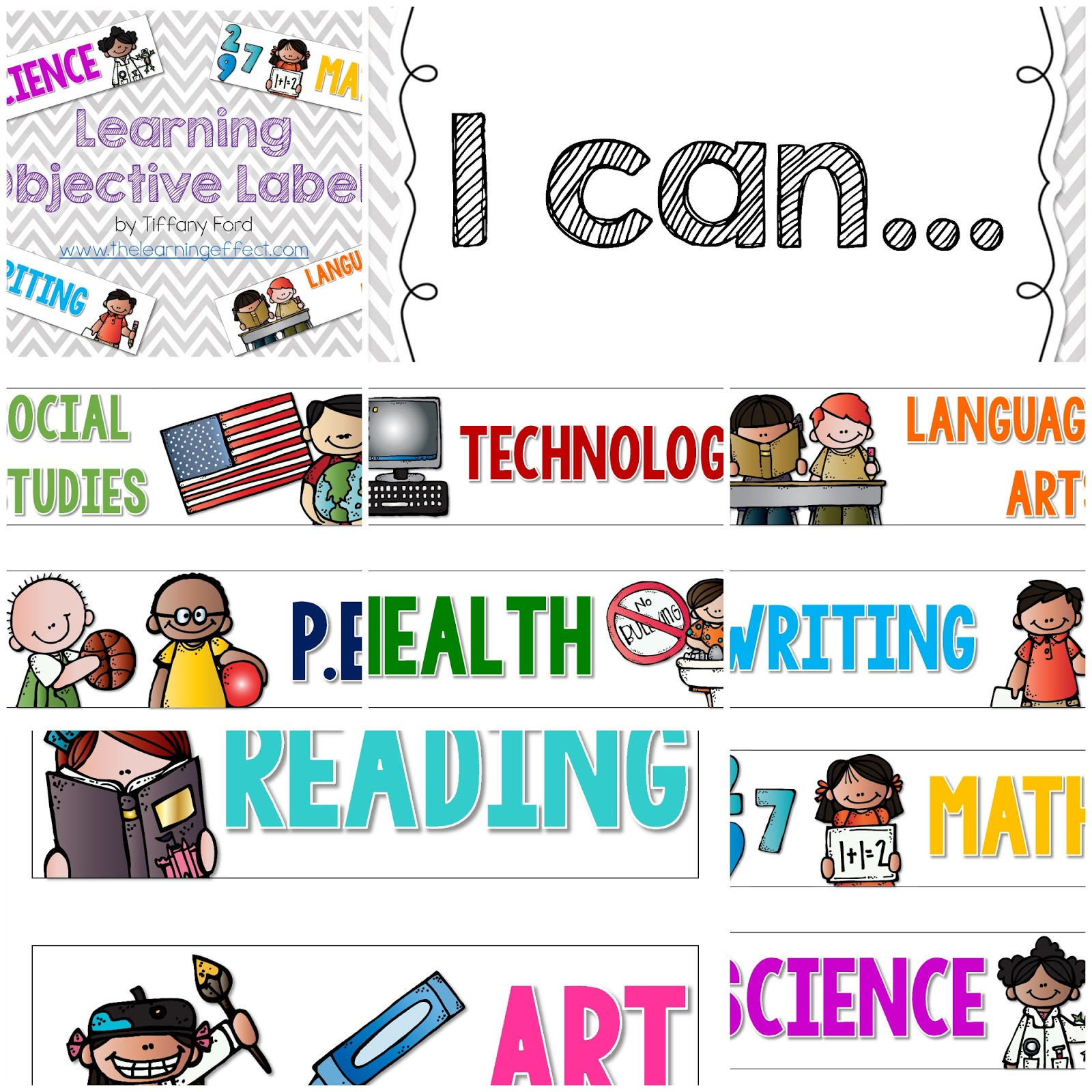 http://www.teacherspayteachers.com/Product/Learning-Objective-Labels-269810