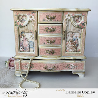 Graphic 45 Gilded Lily Altered Jewelry Box Armoire by Scrapbook Maven thrift store find for a princess