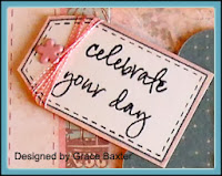 Sewing Sister Birthday card sentiment, celebrate your day