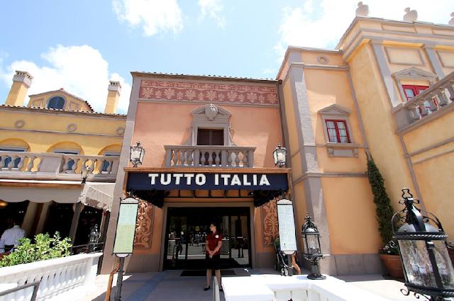 Restaurante Tutto Italia no Epcot em Orlando
