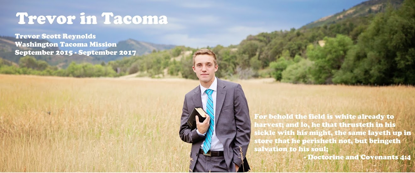 Elder Trevor in Tacoma