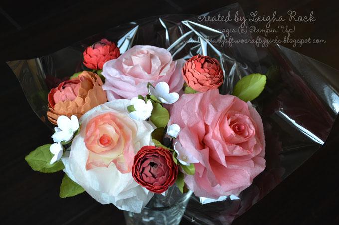 Diary of two crafty girls paper flower in colors bouquet tutorial paper flower in colors bouquet tutorial mightylinksfo