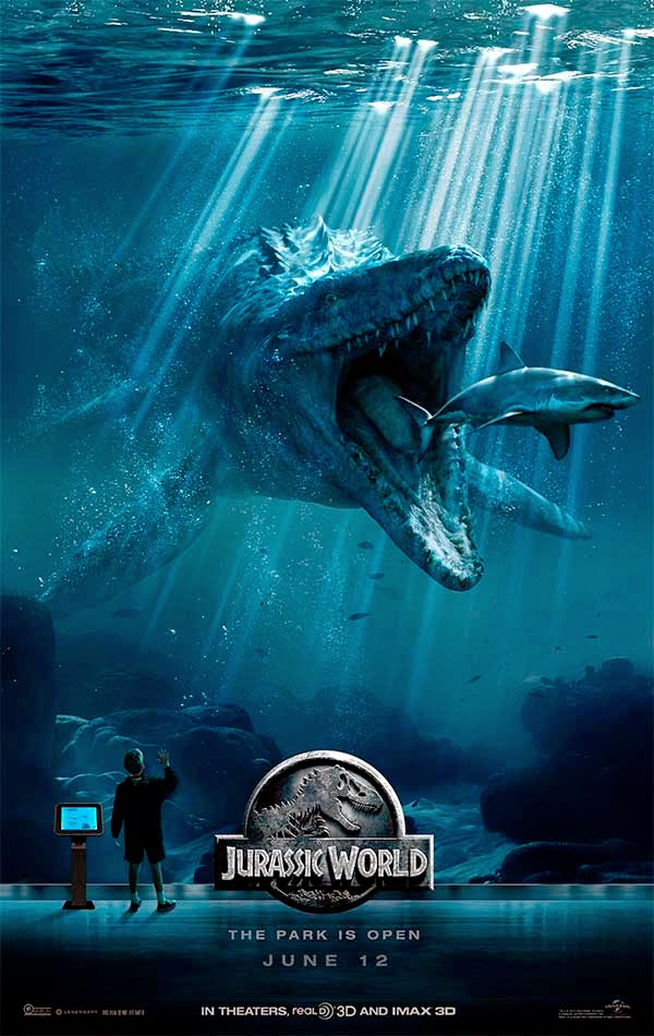 Jurassic World poster Mosasaurus
