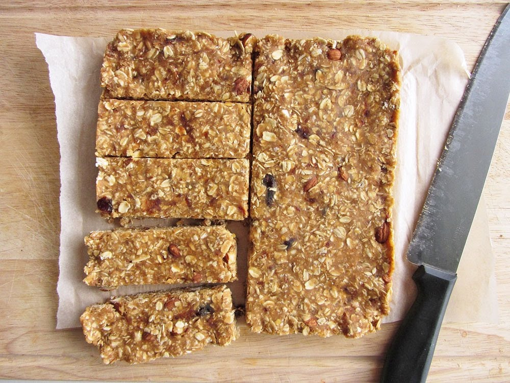 Sara Stakeley: Healthy Snack Recipe: No Bake Nutter Butter Bars
