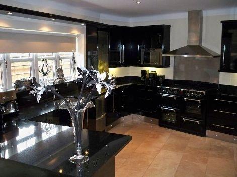 Gabinetes de Cocina Negros - Muy Elegantes |