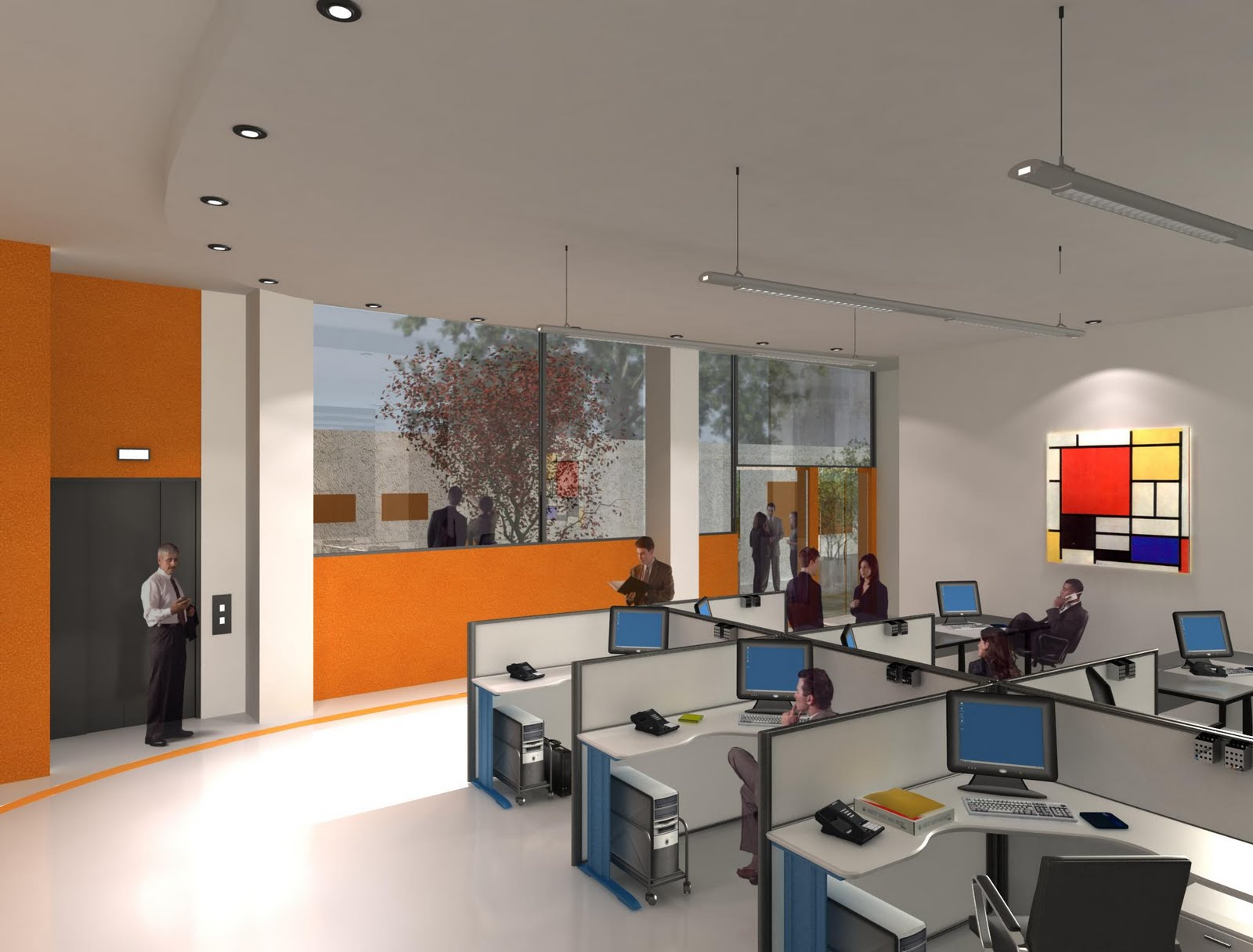 Areko arquitectura 3d edificio oficinas instituto - Oficinas de arquitectura ...