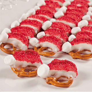 Six in the Suburbs: Santa Hat Pretzels