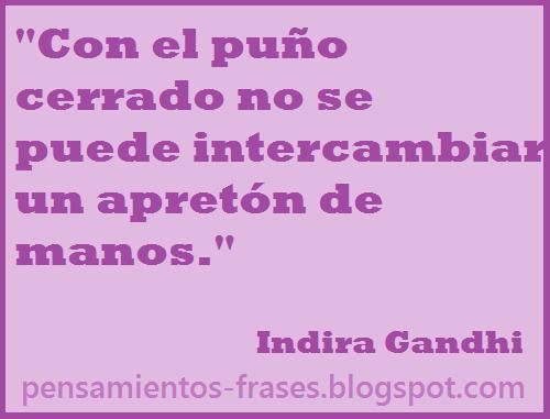 frases de Indira Gandhi