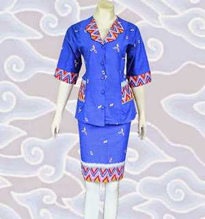 baju setelan batik wanita