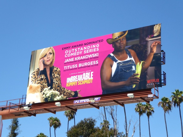 Unbreakable Kimmy Schmidt Comedy 2015 Emmy billboard