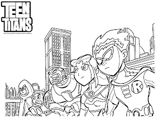 Teen Titans Go Coloring Pages All Team