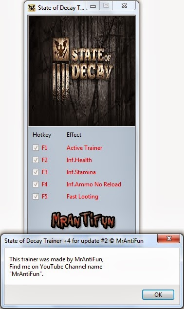 State of Decay Trainer  +4 for Game Update #2 MrAntiFun