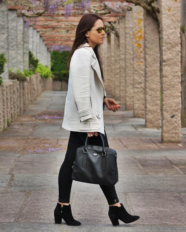 abrigo blanco zara