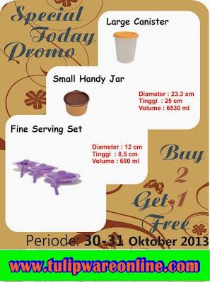 Tulipware Harian Promo 30 dan 31 Oktober 2013
