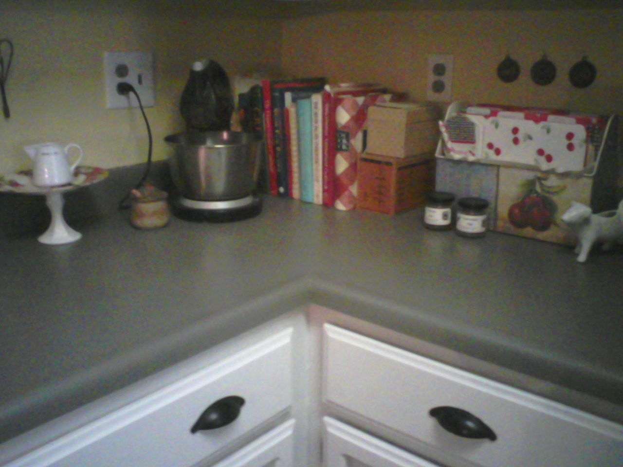 living a cottage life: painted kitchen countertops, take 2