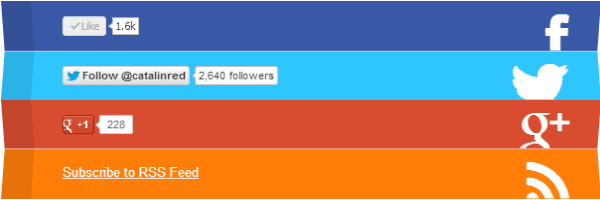 CSS 3D Folding List With Social Buttons