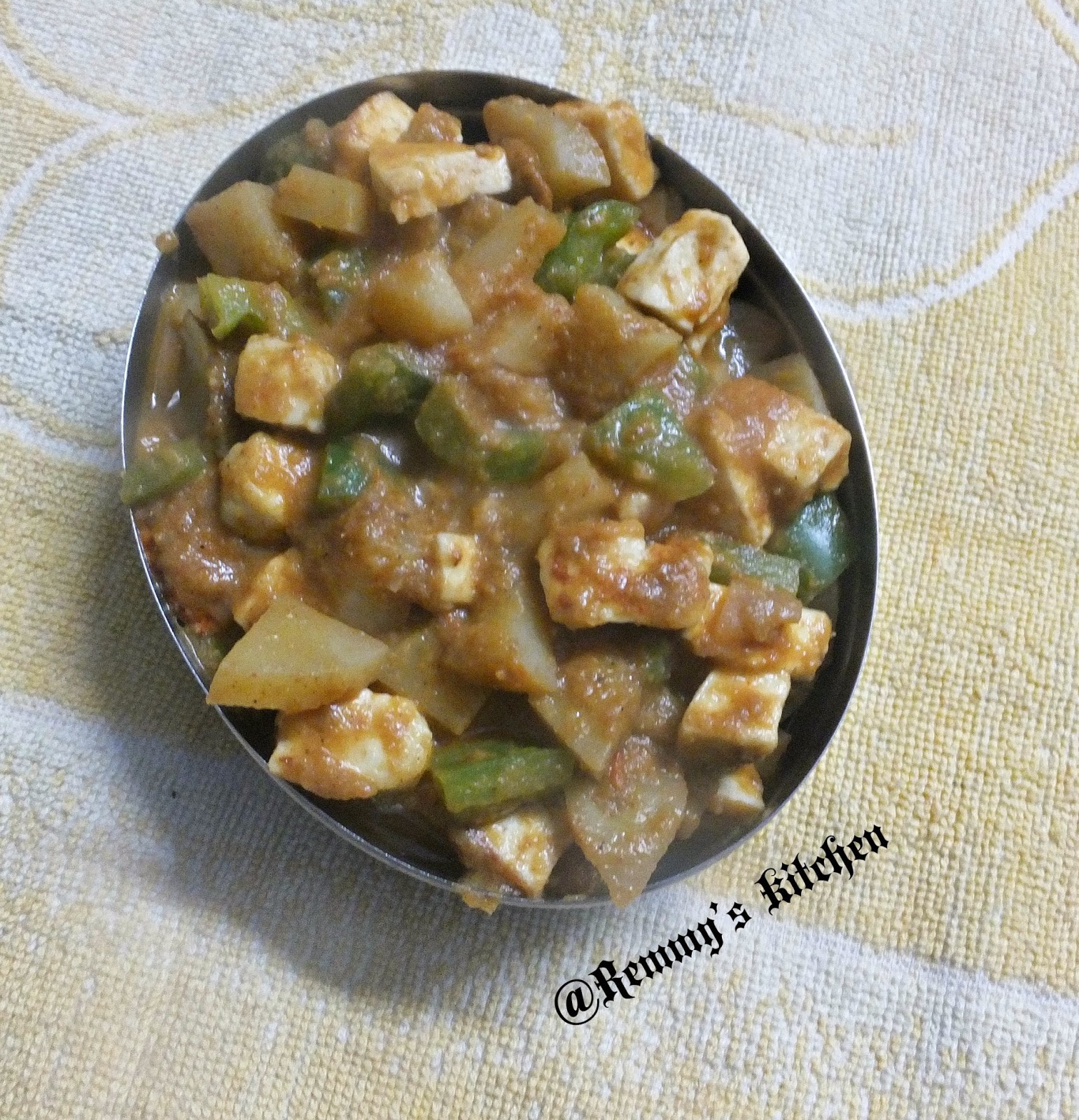 Paneer potato masala