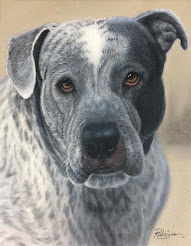 Odie, Bull Mastiff Mix Painted with Oil on Canvas