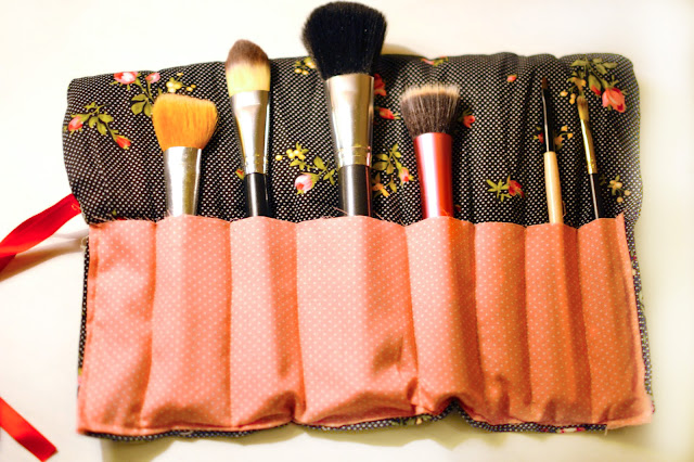 Diy makeup brush bag tutorial