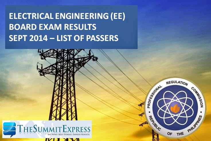 Electrical Engineering Board Exam Results September 2014
